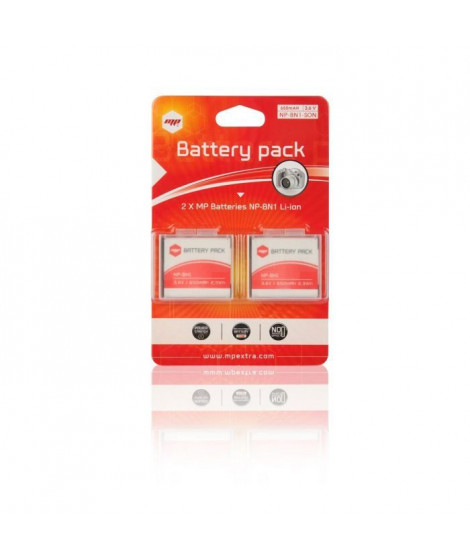 2 x batteries NP-BN1, NPBN1 pour SONY - MP EXTRA