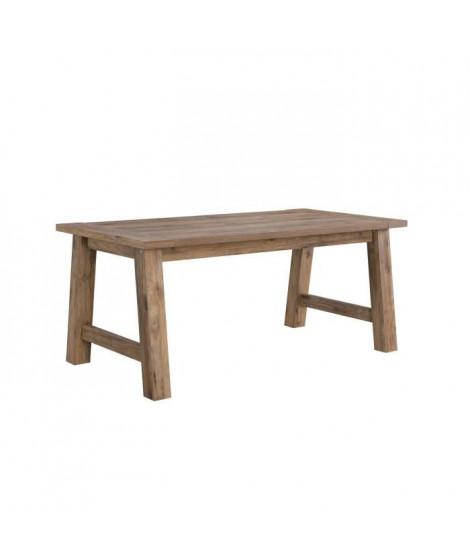 CAMPAGNE Table a manger de 8 a 10 personnes classique décor ton bois - L 180 x l 89,6 cm