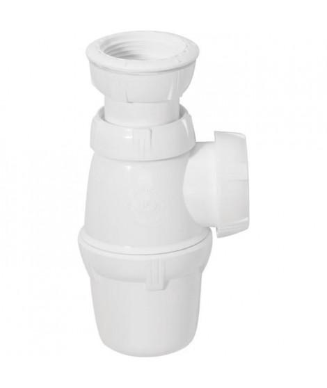 WIRQUIN Siphon de lavabo - Sortie a visser Ø 40 mm - Réglable en hauteur