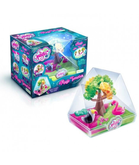 CANAL TOYS - SO MAGIC DIY - Medium Terrarium Kit - TROPICAL - Fabrique ton propre Glitterarium !