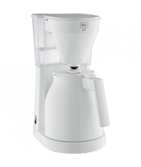 ABSAAR 1023-05 - Cafetiere - Thermo-pot a commande a une main, réservoir d'eau transparent -Blanc