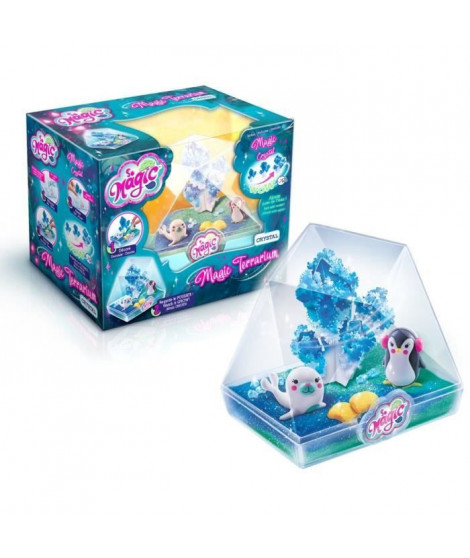 CANAL TOYS - SO MAGIC DIY - Medium Terrarium Kit - CRYSTAL - Fabrique ton propre Glitterarium !