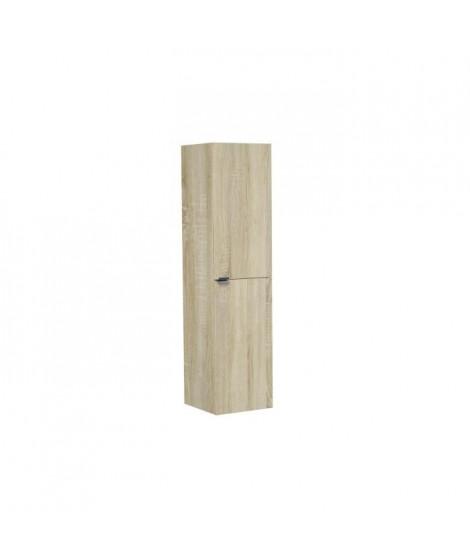 Colonne de salle de bain H120 cm 2 portes - Décor bois - ZOOM