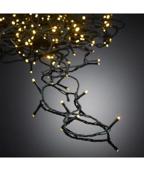 AUTOUR DE MINUIT Guirlande extérieure 100 LED - 10 m - Blanc chaud