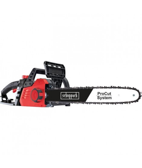 SCHEPPACH Tronçonneuse électrique CSE2600 - 45,5 cm - 2400 W - Noir et rouge