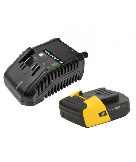PEUGEOT Chargeur + batterie 2,0Ah - Energyhub