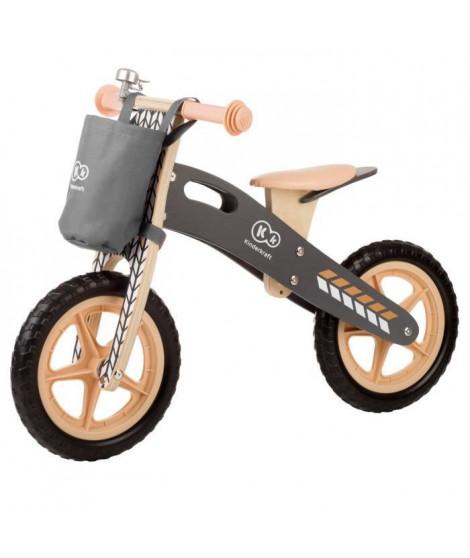 KINDERKRAFT Draisienne enfant en bois Runner Nature avec cloche et sac