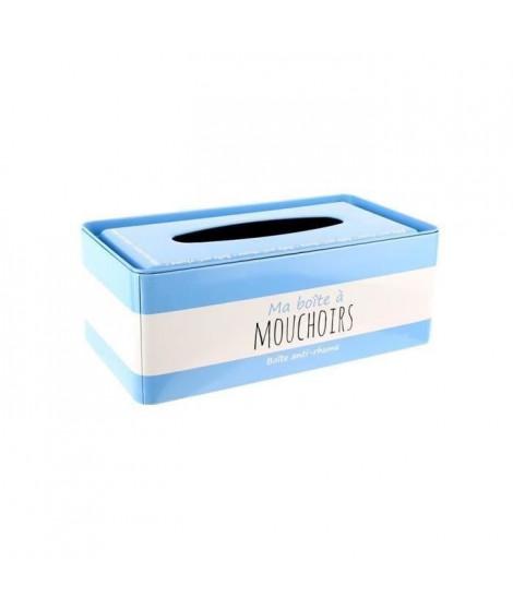 Ma boîte a Mouchoirs - 24,5x13x9,3 cm - Bleu ciel et blanc
