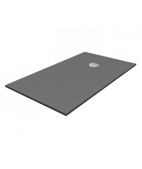 OCÉANE Receveur de douche en pierre - 100 x 80 cm - Gris