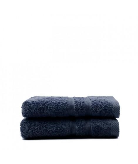 TODAY Lot de 2 Serviettes de toilette Ciel d'orage - 100% Coton - 50 x 100 cm