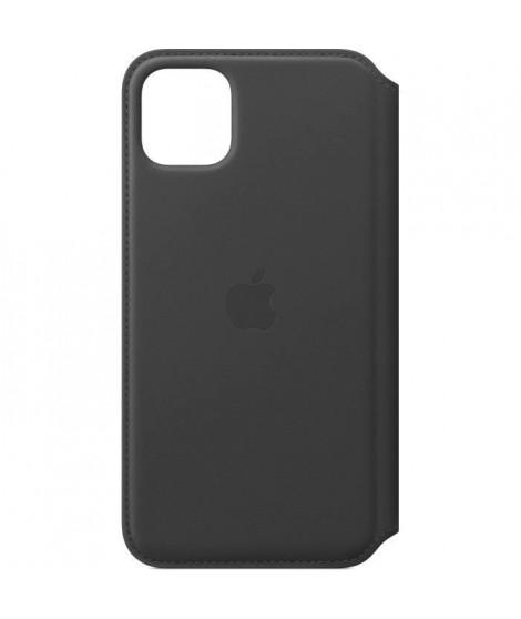 APPLE Étui folio en cuir Noir pour iPhone 11 Pro Max