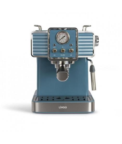 LIVOO DOD174 Machine a café expresso- Réservoir 1,5L - Bleu