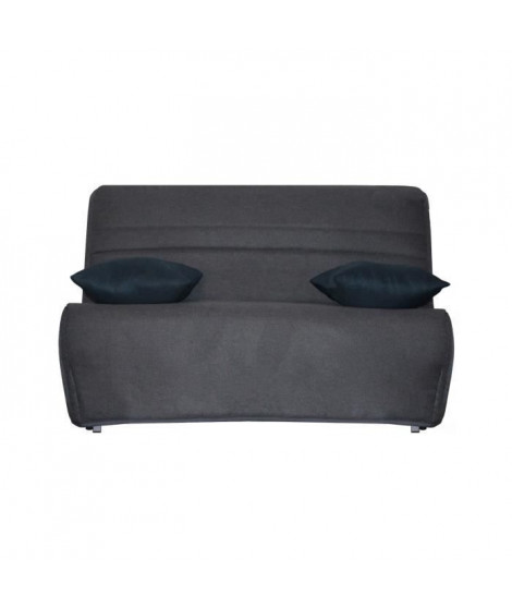 GALA Banquette BZ - Tissu Anthracite - Made in France - Couchage quotidien - L 142 x P 96 x H 90 cm