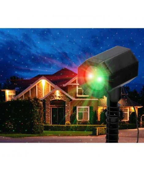 GRUNDIG Projecteurs laser d'extérieur - Plug and Play - 3 options d'éclairage
