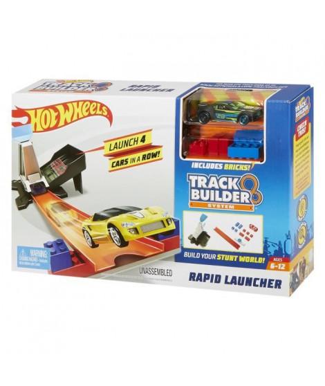 HOT WHEELS - Double lanceur compatible Track Builder - Circuit Petites Voitures - 6 ans et +