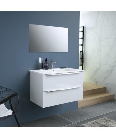 ZOOM Ensemble Meuble de salle de bain - L 60 - Blanc