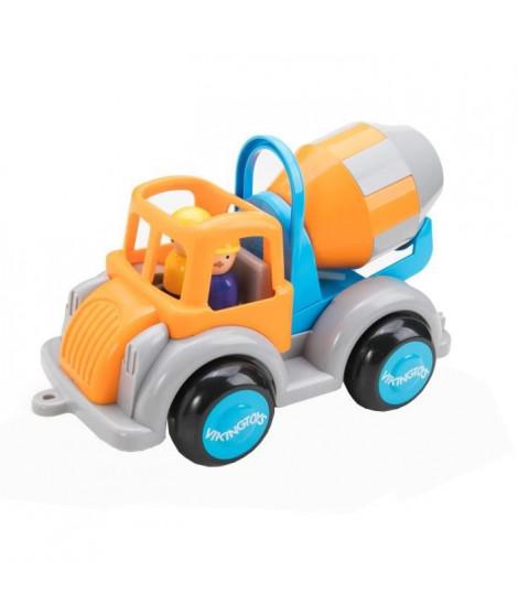 VIKINGTOYS Camion toupie - Orange et bleu - 25 cm