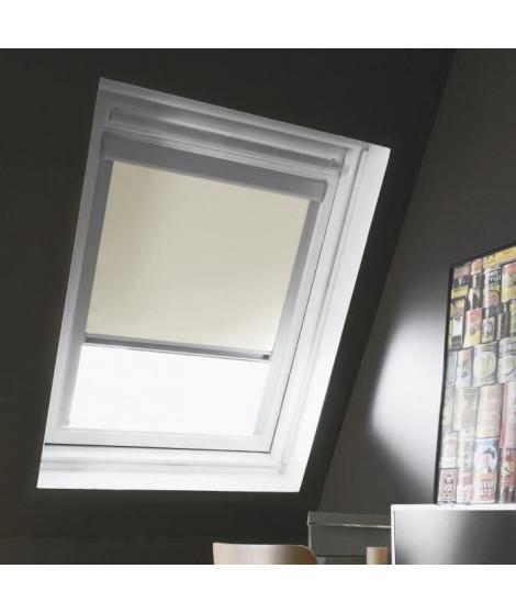 Store de fenetre de toit occultant beige VELUX C02/C04 - L.55 x H.98 cm - MADECO