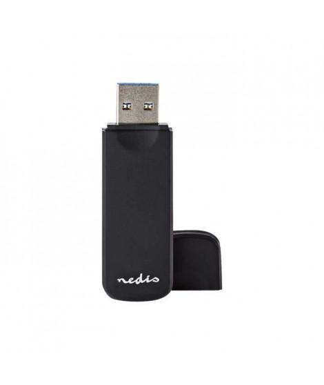 Nedis CRDRU3100BK Lecteur de carte 7 en 1 (MMC, SD, microSD, SDHC, microSDHC, SDXC, microSDXC) USB 3.0