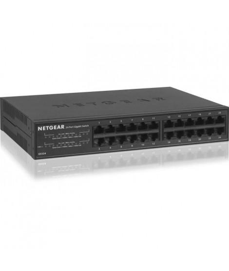 NETGEAR Switch 24 Ports Gigabit Ethernet Métal GS324-100EUS