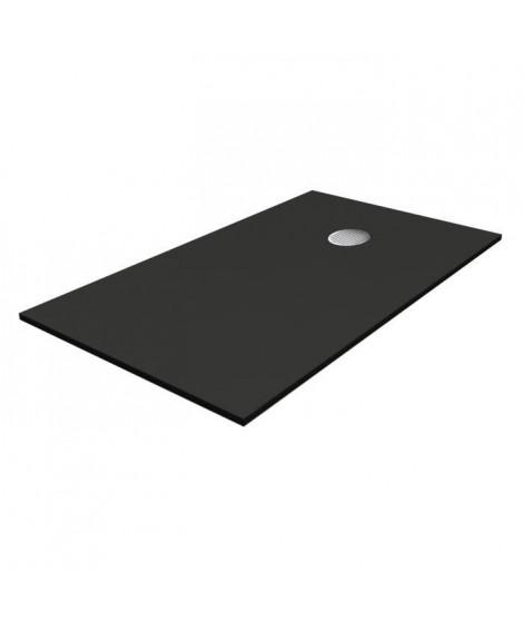 OCÉANE Receveur de douche en pierre - 100 x 80 cm - Noir