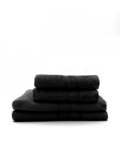 TODAY Lot de 2 Serviettes 50 x 100 cm + 2 Draps de bain 70 x 130 cm - 100% Coton - Réglisse
