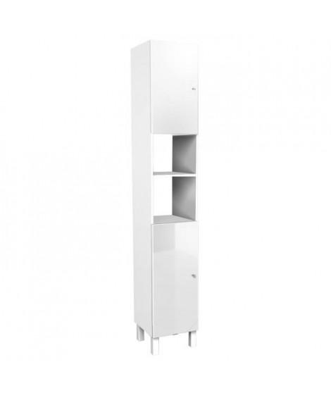 CORAIL Colonne de salle de bain L 30 cm - Blanc brillant