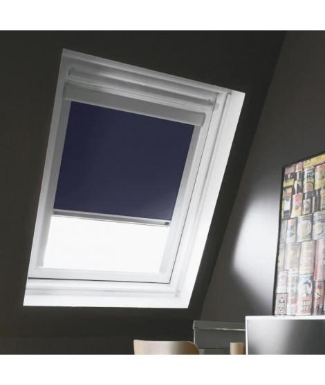 Store de fenetre de toit occultant bleu VELUX U04/U08 - L.134 x H.140 cm - MADECO