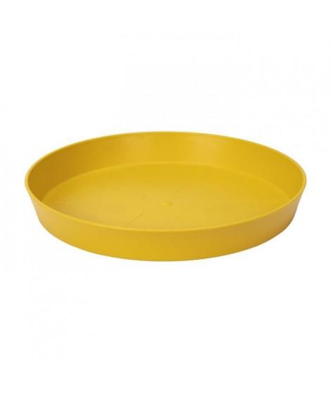 ELHO Soucoupe ronde Loft Urban 21 - Extérieur - Ø 20,9 x H 2,9 cm - Jaune ocre