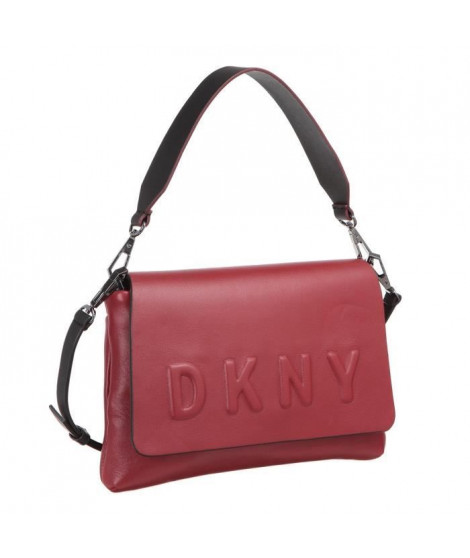 DKNY Logo sac a Bandouliere R461540602 DEBOSSED Noir Femme