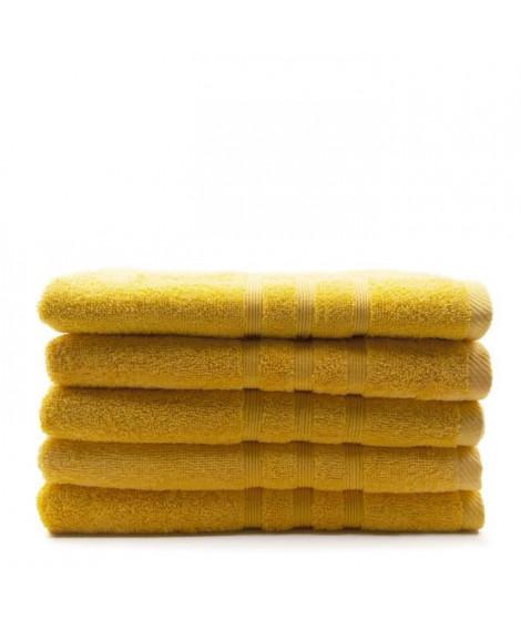 TODAY Lot de 5 Draps de bain Safran - 70 x 130 cm - 100% coton