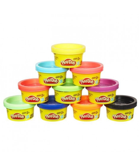 PLAY-DOH - 10 Pots de pâte a modeler - Petits Pots Couleurs Party Tube
