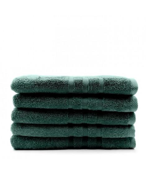 TODAY Lot de 5 Draps de bain Emeraude - 70 x 130 cm - 100% coton