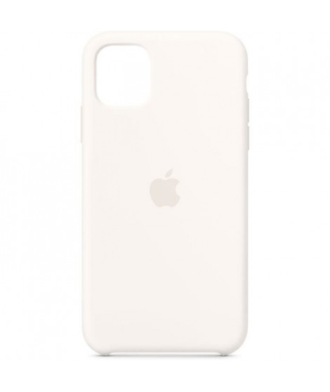 APPLE Coque silicone Blanc pour iPhone 11