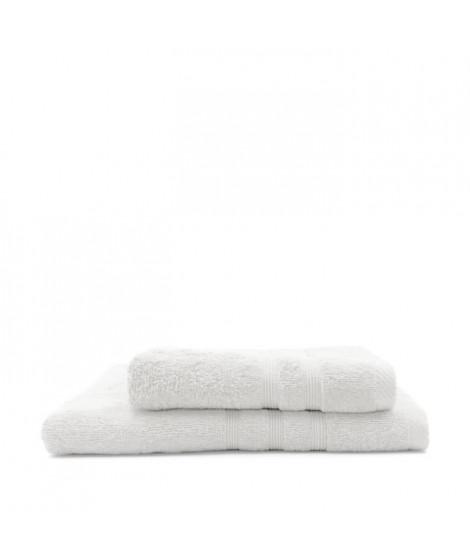TODAY Lot de 1 Serviette de bain 50 x 100 cm + 1 Drap de bain 70 x 130 cm Chantilly - 100% coton
