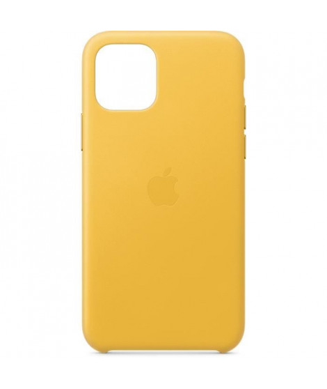 APPLE Coque Cuir Citron givré pour iPhone 11 Pro