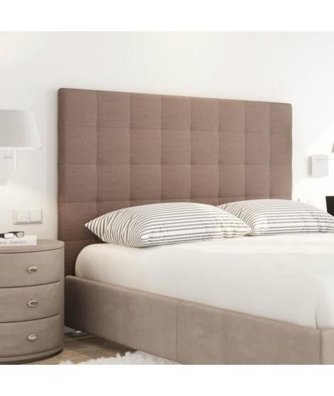 SOGNO Tete de lit capitonnée style contemporain - Tissu marron - L 160 cm