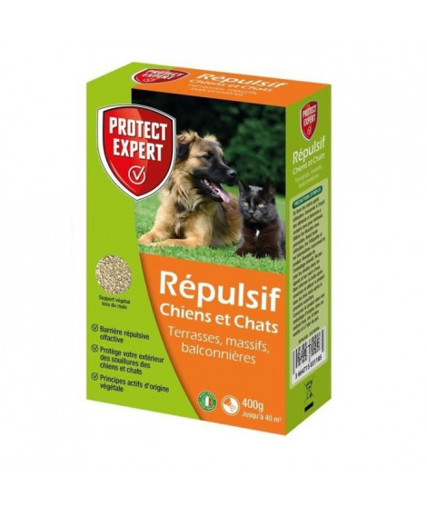 Protect Expert REPUL400 Chiens Et Chats - Granules - 400 g Pex
