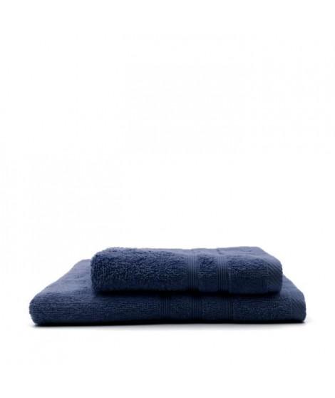 TODAY Lot de 1 Serviette de bain 50 x 100 cm + 1 Drap de bain Ciel d'Orage - 70 x 130 cm - 100% coton
