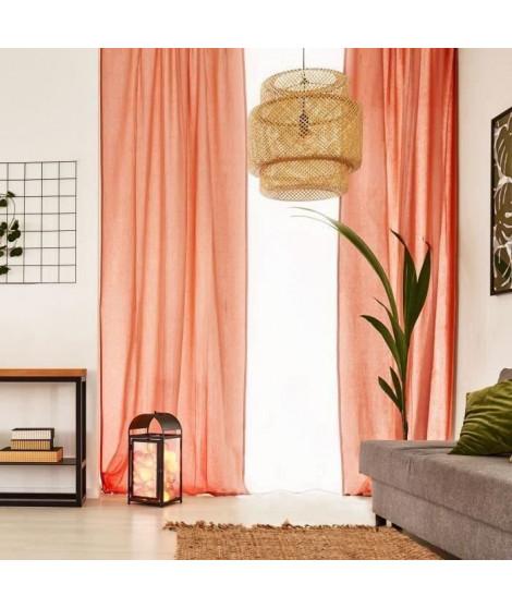 Voilage Premium Coton - 110 x 250 cm - Orange