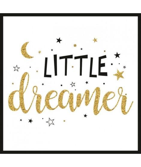 LITTLE DREAMER Image contrecollée encadrée sans verre 30x30 cm little dreamer