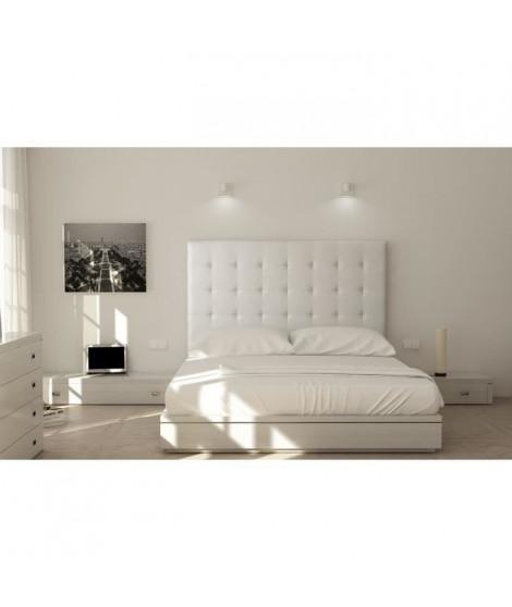 SOGNO Tete de Lit  capitonnées 170cm - Simili blanc
