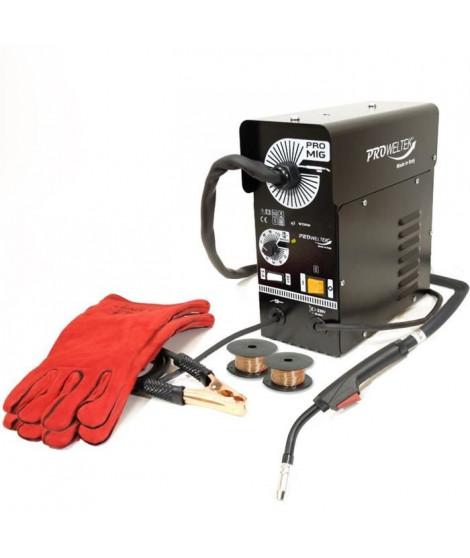 PROWELTEK Poste a souder semi automatique mig no gaz promig 100 pack gants anti chaleur + 2 bobs fil fourré