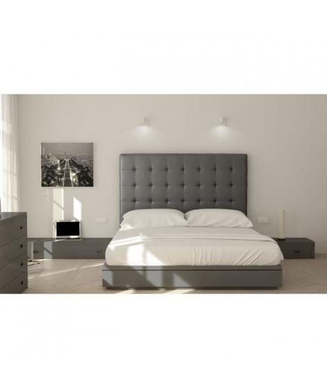 SOGNO Tete de Lit  capitonnées 170cm - Simili gris