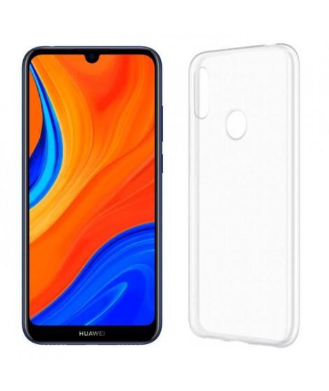 HUAWEI Smartphone Y6S Bleu orchidée + Coque TPU Transparent