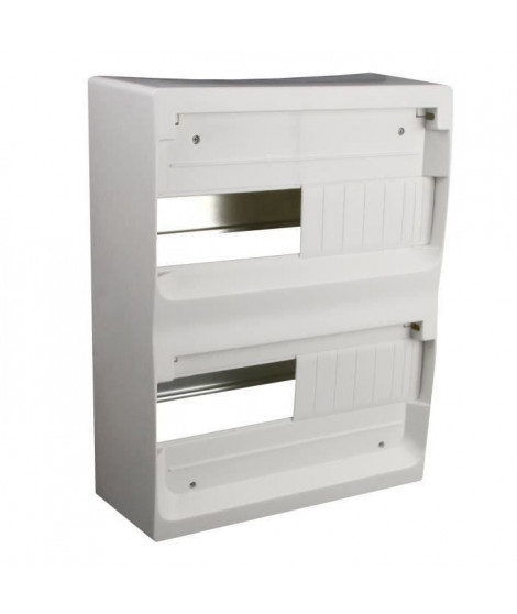 ZENITECH Coffret électrique nu a équiper 2 rangées 26 modules blanc