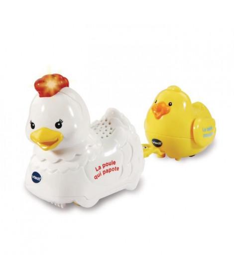 VTECH - 509605 - Tut Tut Animo - Cocotte la poule qui papotte et Picotin le bébé poussin