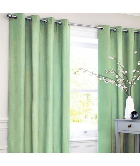 Rideau coton LOOK - Vert clair - 140x250 cm