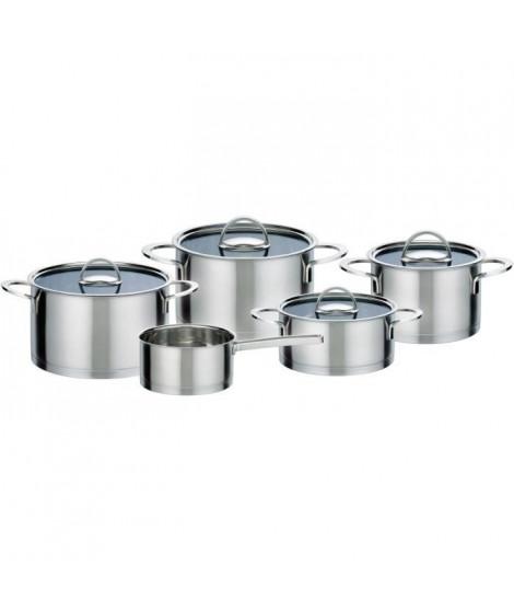 GSW Elegance - Batterie de cuisine 9 pieces en acier inoxydable - Tous feux dont induction