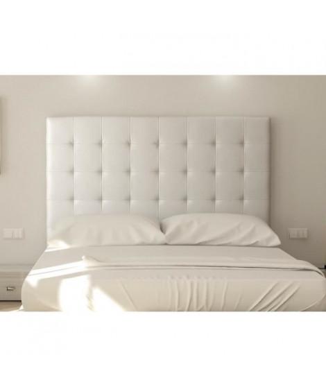 SOGNO Tete de lit capitonnée - Simili blanc - L 180 cm